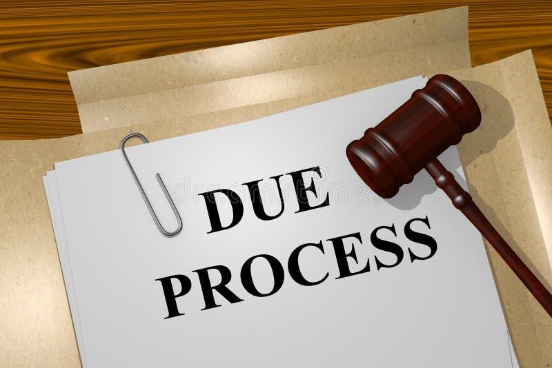 Należytego Procesu Sądowego pojęcie ilustracja wektor
