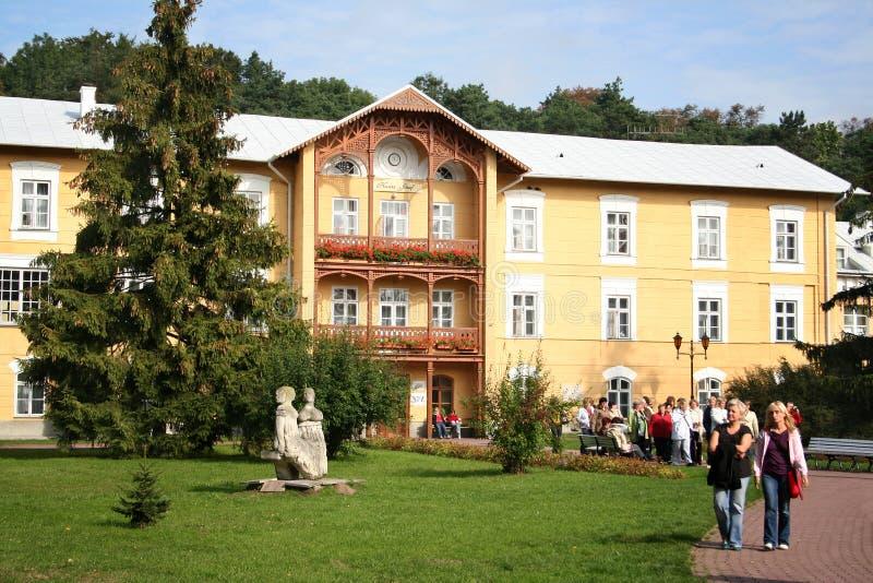 Naleczow Spa semesterort 2 royaltyfri fotografi