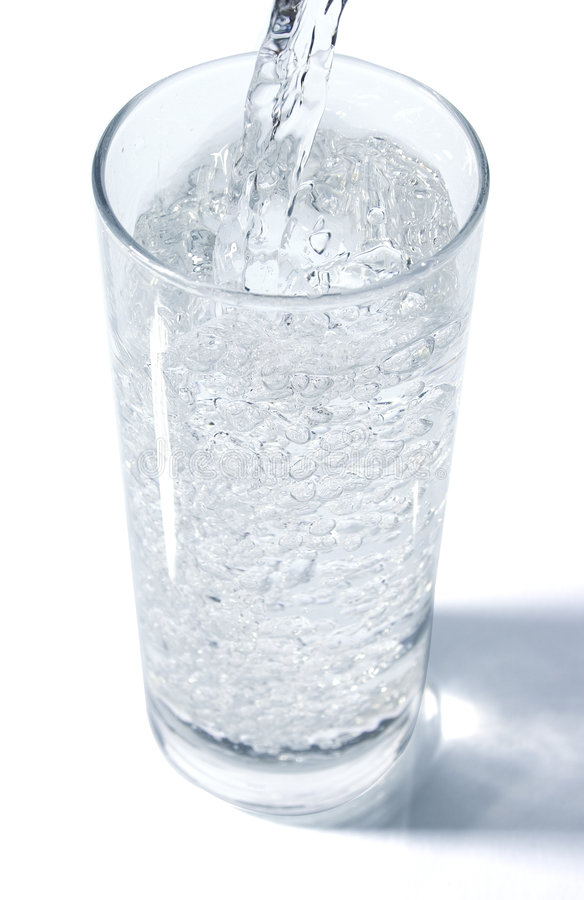 nalewa wodę zdjęcie stock