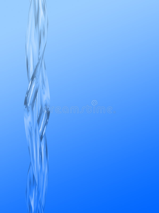 nalewa wodę royalty ilustracja
