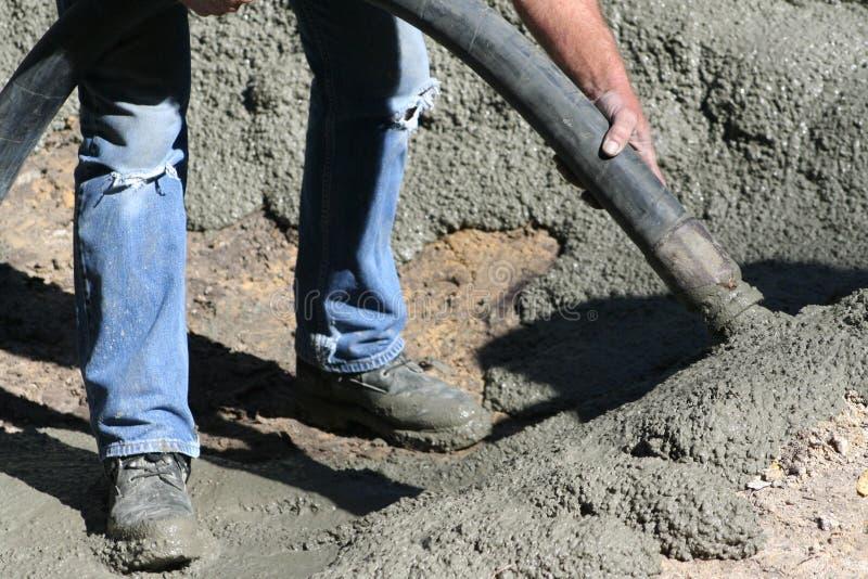nalewanie betonu fotografia stock