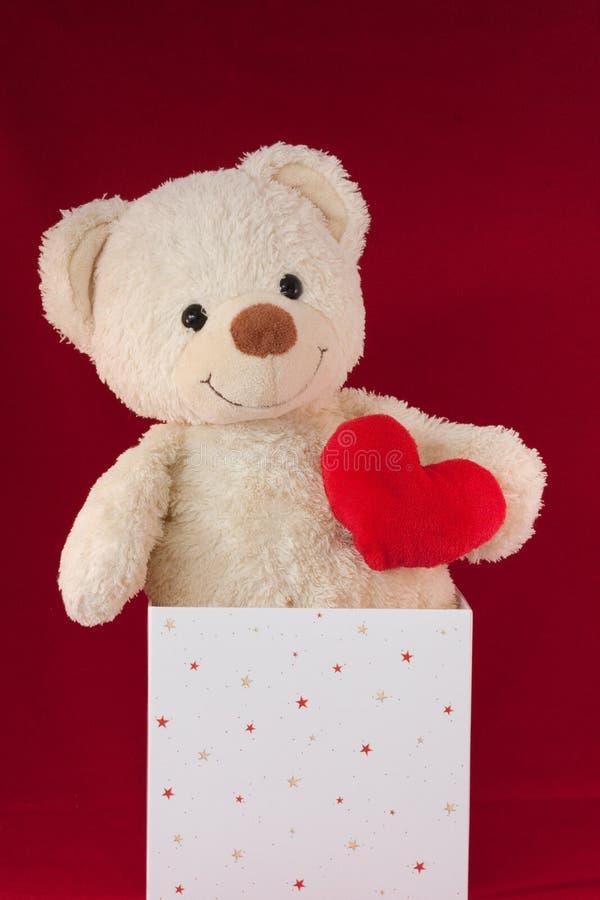 nalle för förälskelse för björnaskhjärta arkivbilder