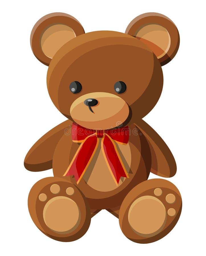 Nallebj?rn med bowen 熊豪华的玩具 向量例证