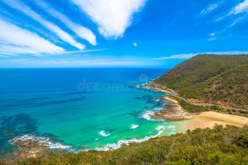 Nalles utkik, Lorne Victoria Australia royaltyfri fotografi