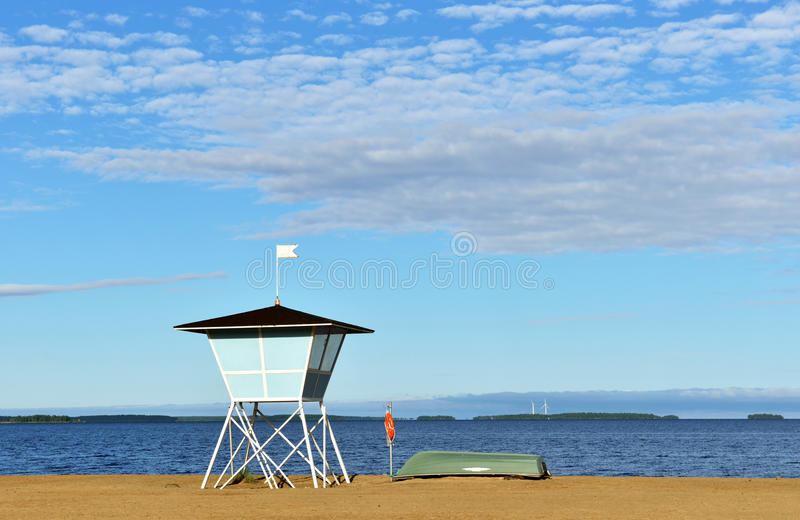 Nallikari beach in Oulu. Finland stock images