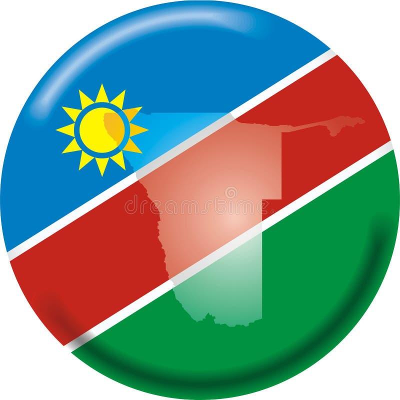 Namíbia ilustração stock
