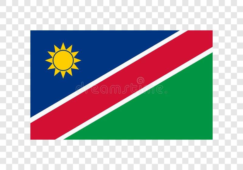 Namíbia - bandeira nacional ilustração do vetor