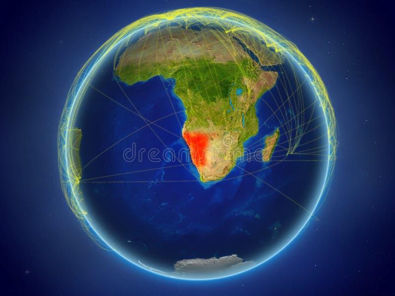 Namíbia na terra com redes ilustração royalty free