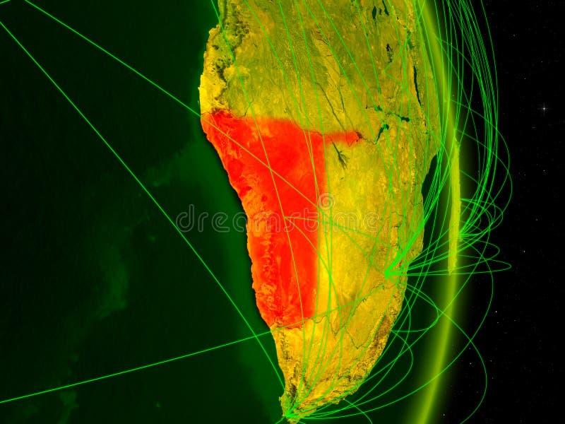 Namíbia na terra digital ilustração stock