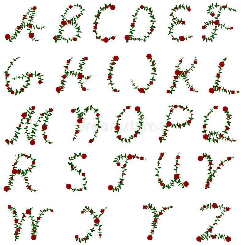 Nam alfabet toe vector illustratie