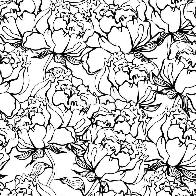 Nam bloemen naadloze achtergrond toe royalty-vrije illustratie