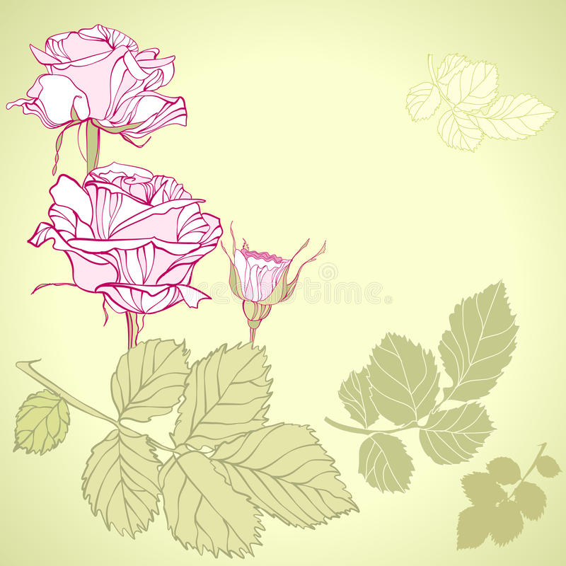 Nam bloemen toe stock illustratie