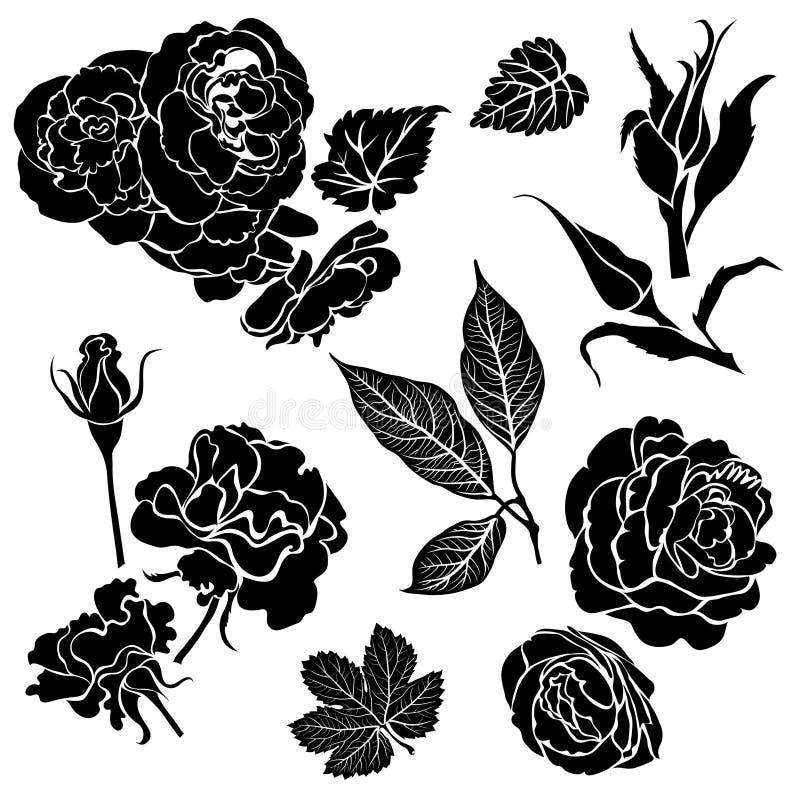 Nam bloemen toe royalty-vrije illustratie