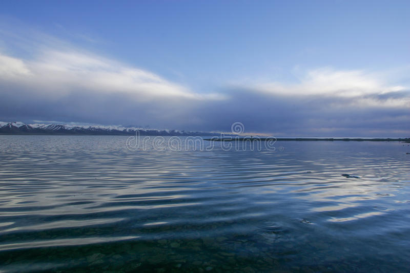 Nam Co Lake in Tibet stock photography