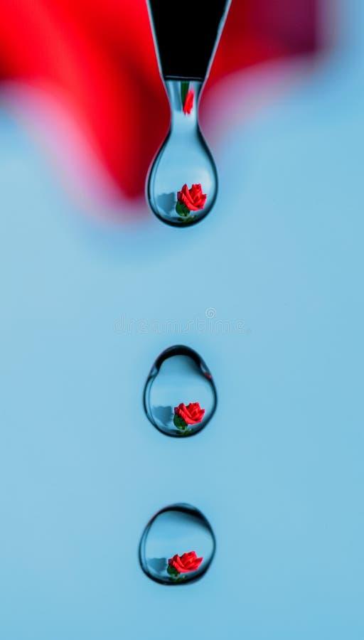 Nam in dalingen van water toe stock fotografie