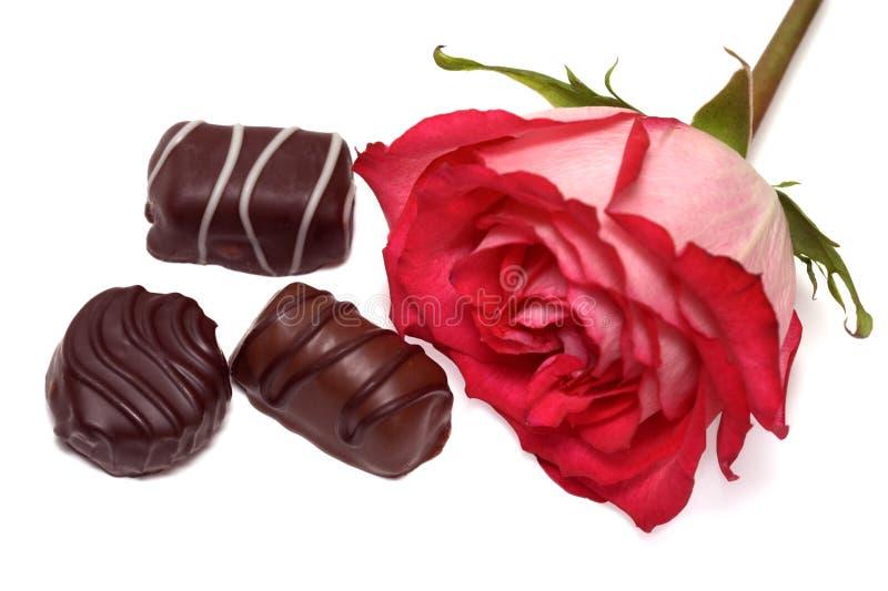 Nam en chocolade toe stock fotografie