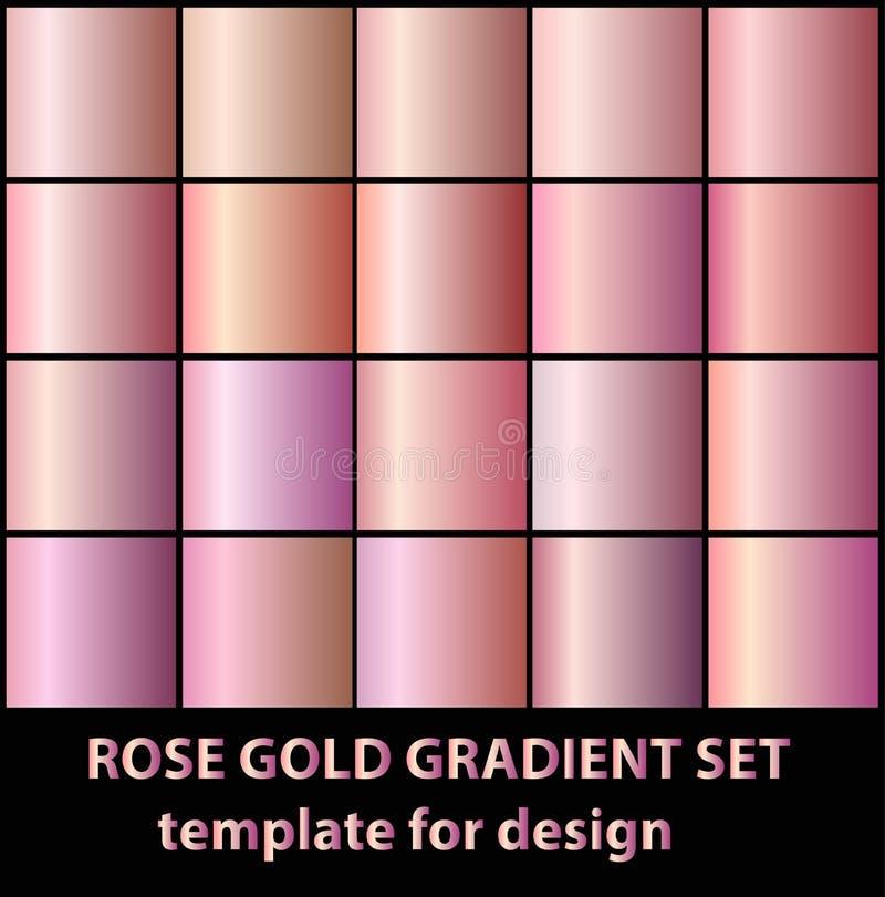 Nam gouden gradiëntinzameling voor manierontwerp toe Vector illustr vector illustratie