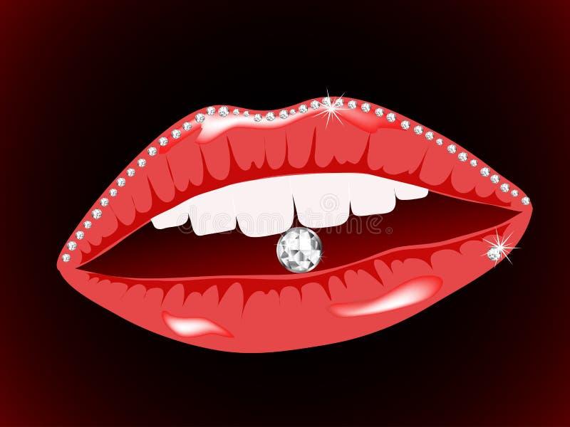 Nam lippen toe royalty-vrije illustratie