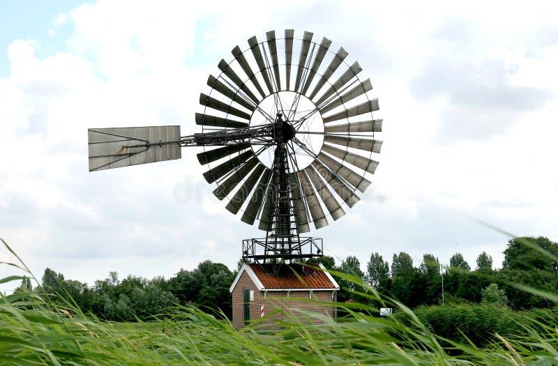 Nam molen DE Hercules in Nederland toe stock afbeelding