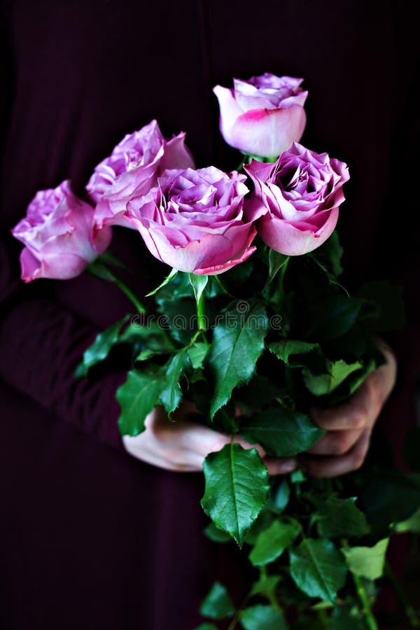 Nam op Dag van de de als achtergrond verjaardag van donker de Dagconcept van de vrouwen Valentine toe royalty-vrije stock fotografie