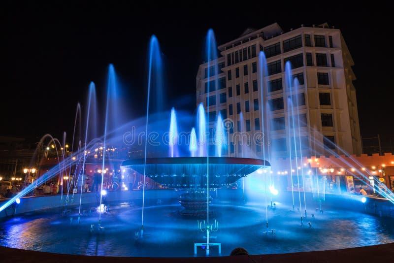 Nam Phou Fountain a Vientiane immagini stock libere da diritti