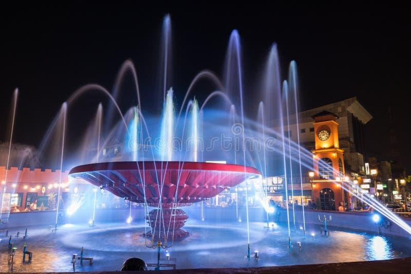 Nam Phou Fountain a Vientiane fotografie stock libere da diritti