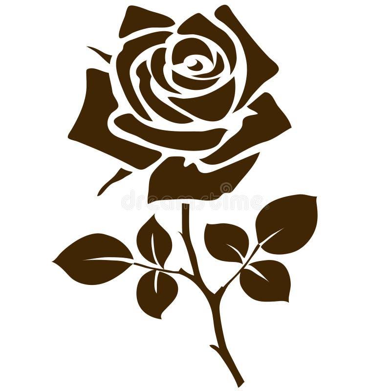 Nam pictogram toe Het decoratieve die silhouet van de tuinbloem op wit wordt geïsoleerd Vector illustratie royalty-vrije illustratie
