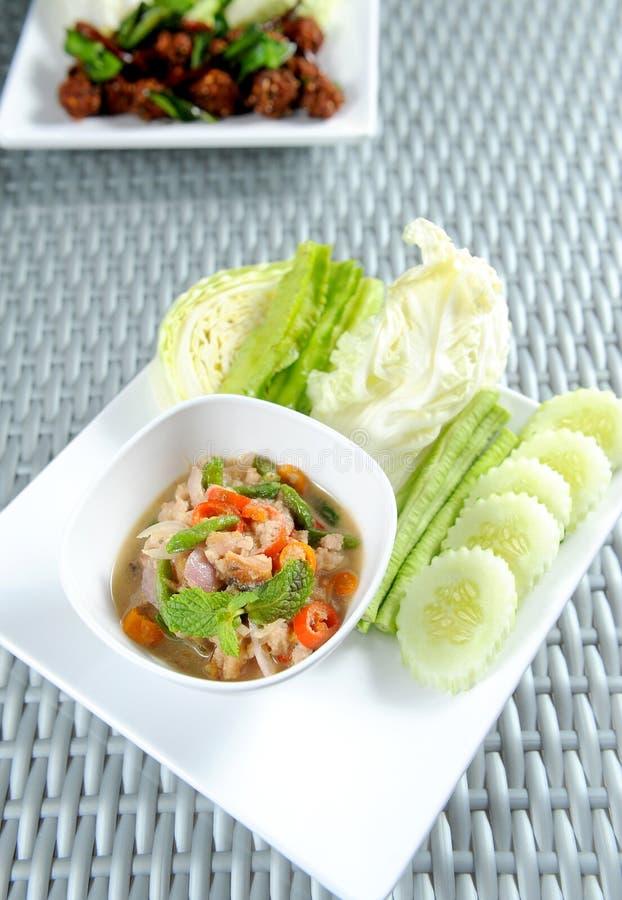 Nam Prik thai food. In studio royalty free stock photos