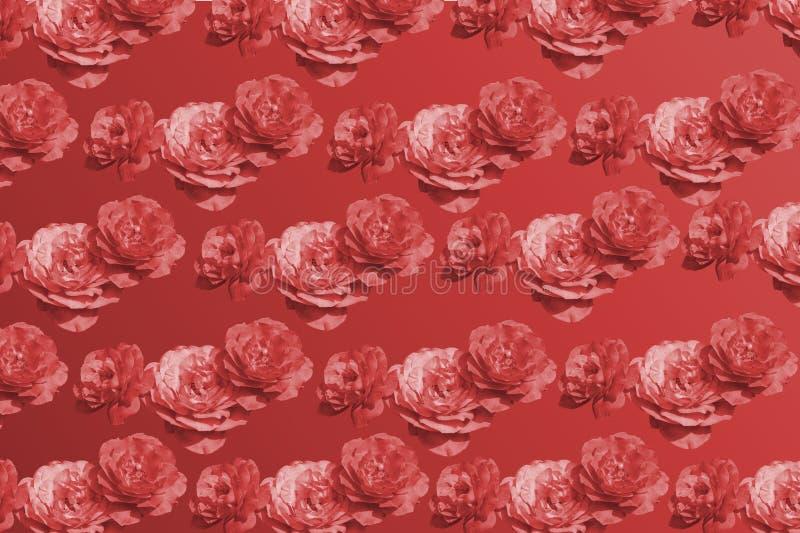 Nam roze een hoge vlucht nemend patterm uitstekend mono de toonrood van de kleurenbloesem toe royalty-vrije stock fotografie