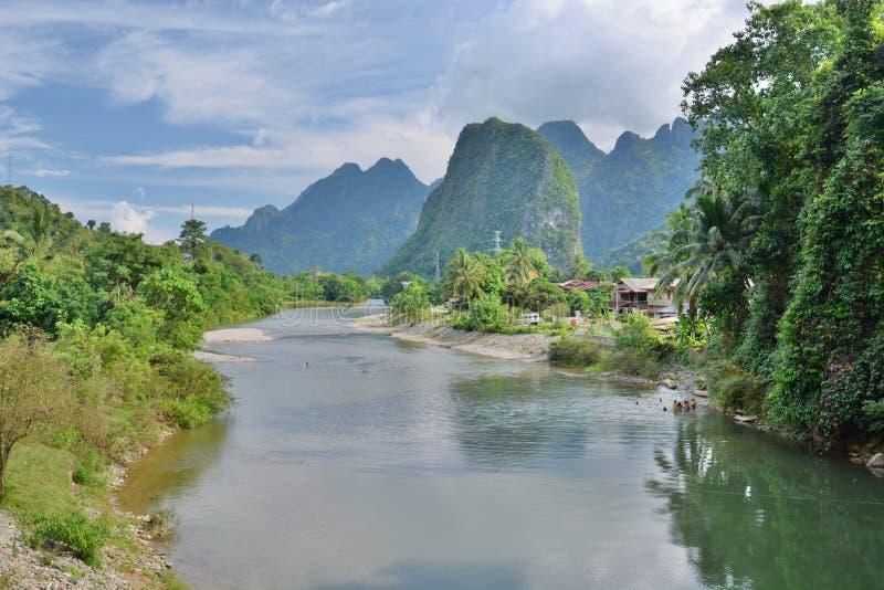 Nam Songflod Förbudphaskarp smak laos arkivbilder
