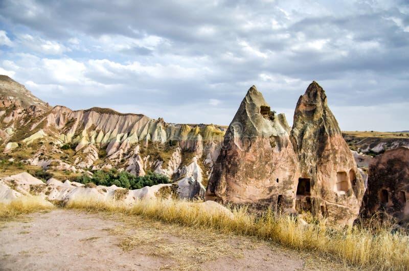 Nam vallei Goreme Cappadocia Turkije in zomer toe stock foto