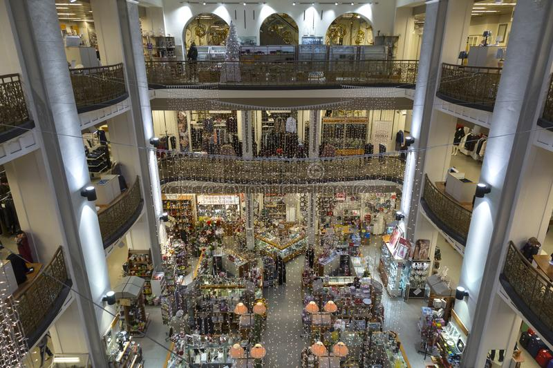 Nama, oldest shopping mall in Zagreb, Croatia royalty free stock photos