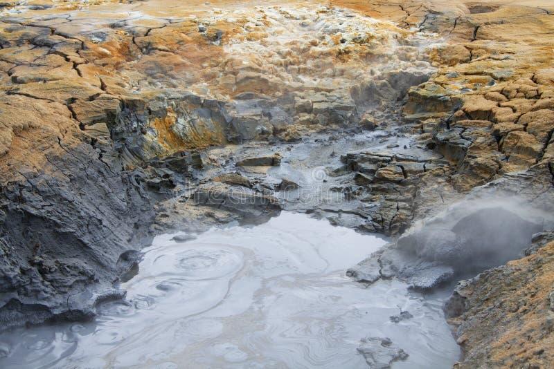 Namafjall geotermiczny teren, Iceland obrazy royalty free
