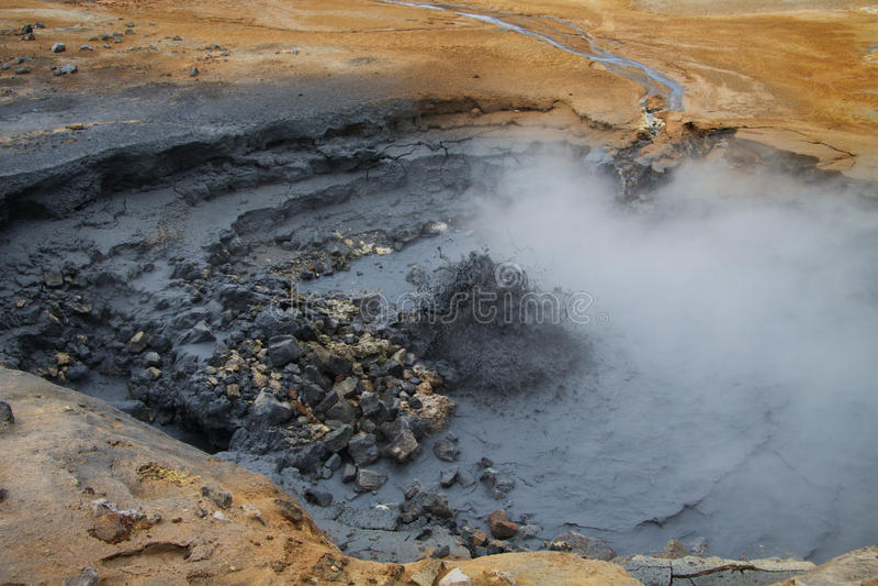 Namafjall geotermiczny teren, Iceland zdjęcia royalty free