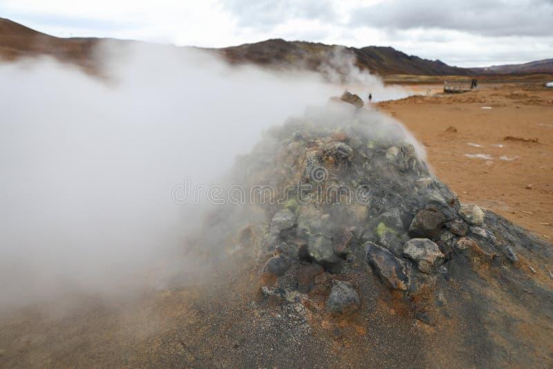 Namafjall geotermiczny teren w Iceland zdjęcie stock