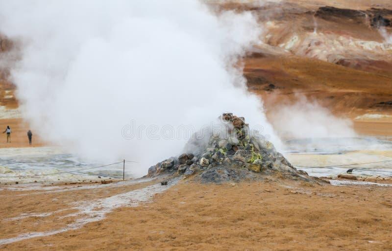 Namafjall geotermiczny teren w Iceland zdjęcia stock