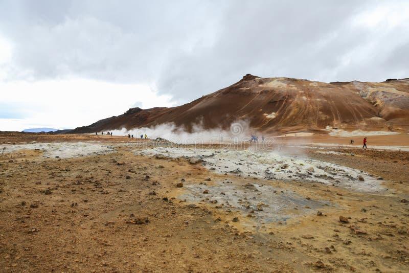 Namafjall geotermiczny teren w Iceland obraz stock