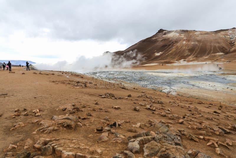 Namafjall geotermiczny teren w Iceland obrazy stock