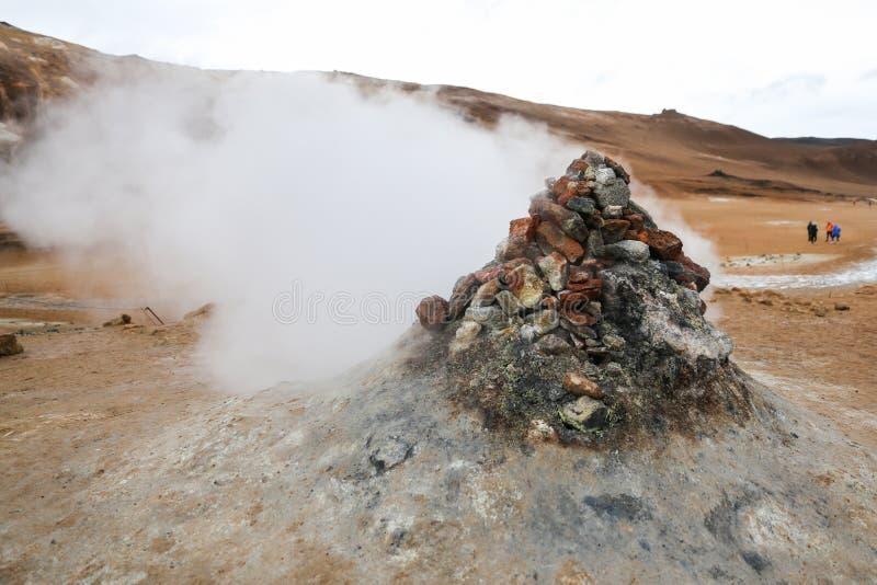 Namafjall geotermiczny teren w Iceland zdjęcie royalty free