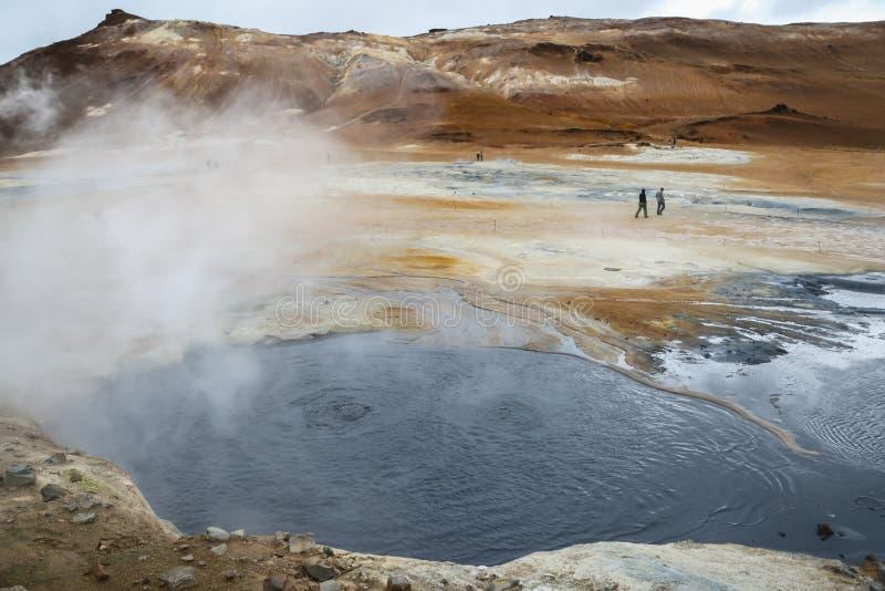 Namafjall geotermiczny teren w Iceland obrazy royalty free