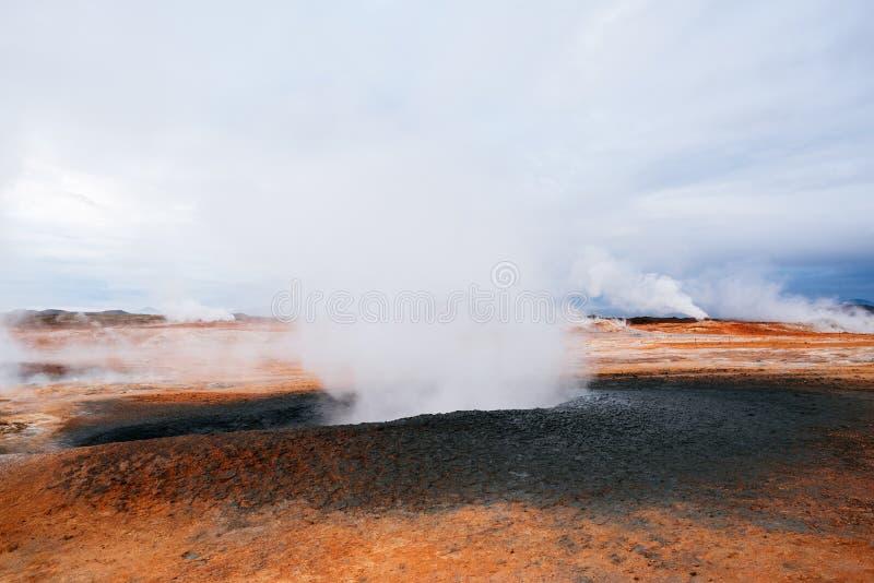 Namafjall hverir geotermiczny teren, Iceland obraz royalty free
