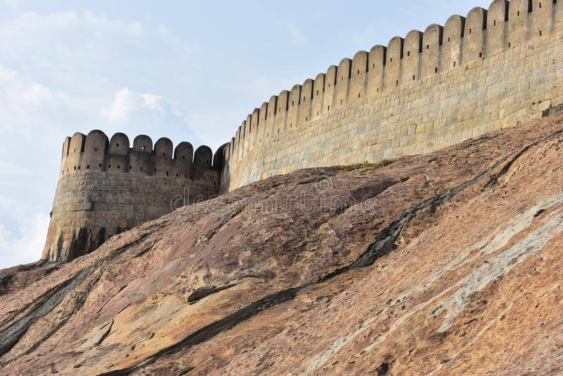 Namakkal, Tamilnadu - India - 17 ottobre 2018: Fortificazione di Namakkal immagine stock libera da diritti