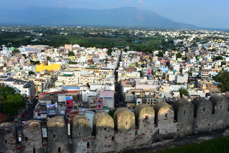Namakkal, Tamilnadu - la India - 17 de octubre de 2018: La vista superior de la ciudad fotos de archivo libres de regalías