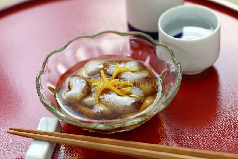 Namako vinegared japonês do pepino de mar nenhum sunomono fotos de stock royalty free