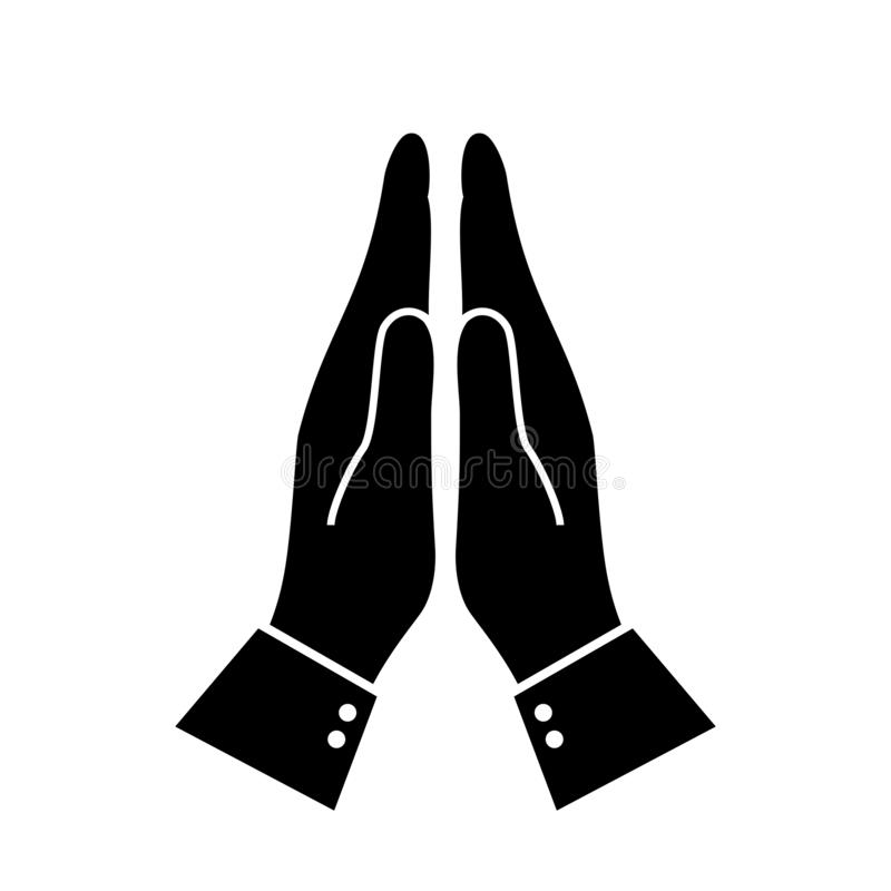 Namaskar namaste pictogram vector illustratie