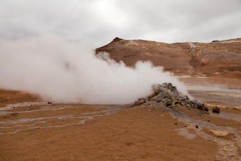 Namaskard geothermische vulkaan, IJsland royalty-vrije stock afbeelding