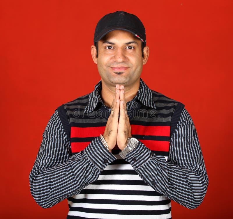 Download Namaste stock photo. Image of watch, stripes, smiling - 22463878