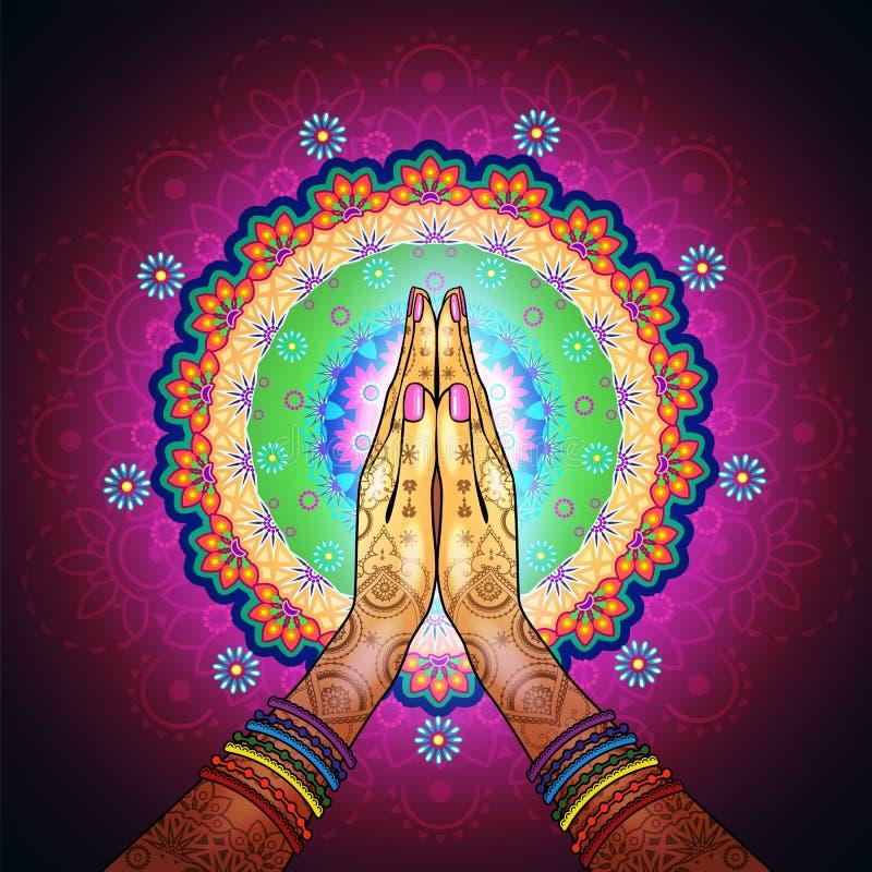 Namaste-Mandala stockfotografie