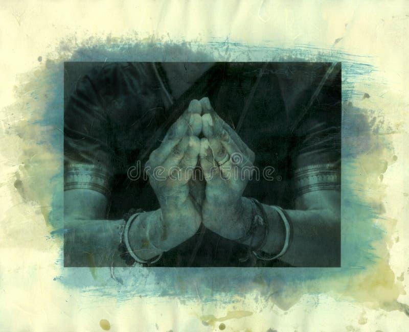 Namaste Mudra stock de ilustración