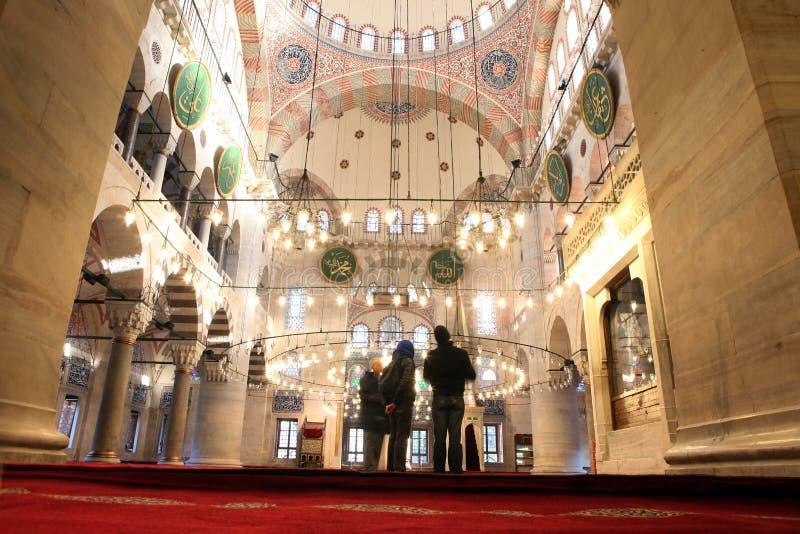 Namaz in moschea immagine stock